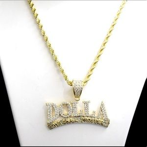 Other - Gold Diamond DALLA WE SHALL PROSPER Charm Chain